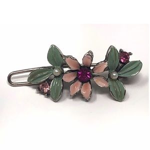 Vintage Anthropologie flower hair pin barrette